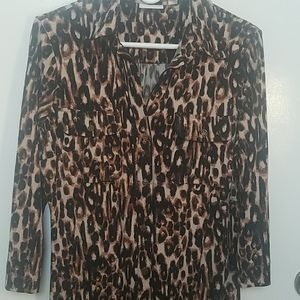 New york and company leopard print tunic or dress